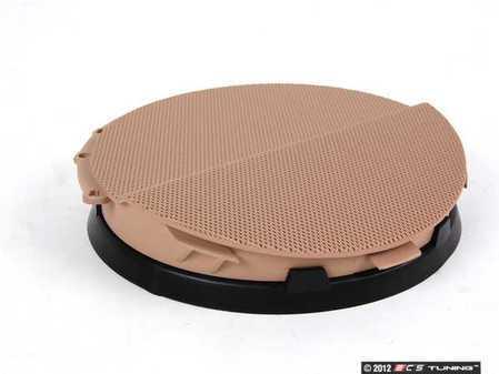 ES#102021 - 51418224048 - Right Front Speaker Cover - Hellbeige/Light Beige. Protects the front door speaker - Genuine BMW - BMW