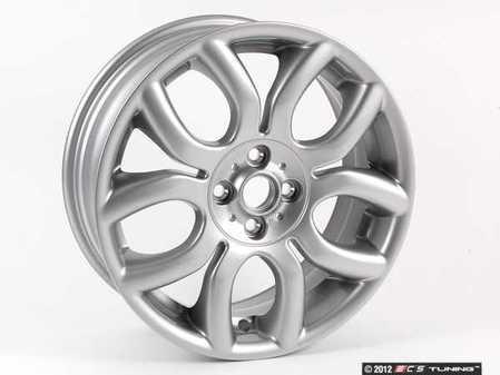 "ES#65018 - 36116775685 - R97 MINI Flame Spoke Wheel 17"" (4x100) - Silver - Priced Each - 17 x 7J ET:48 - Genuine MINI - MINI"