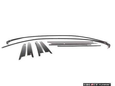 ES#523171 - E46SHADOW - Gloss Shadowline Trim - Kit - Replace all of the chrome trim around your windows - Genuine BMW - BMW