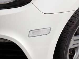 ES#2535653 - GJSMSCLR-AKT - ECS Golf R Clear Bumper Side Markers - ECS Tuning's Own Bumper Lenses replace orange reflector on side of the front bumper. Limited lifetime warranty! - ECS - Volkswagen