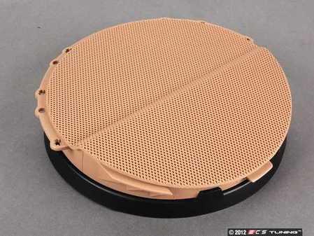 ES#102020 - 51418224047 - Left Front Speaker Cover - Hellbeige/Light Beige. Protects the front door speaker - Genuine BMW - BMW
