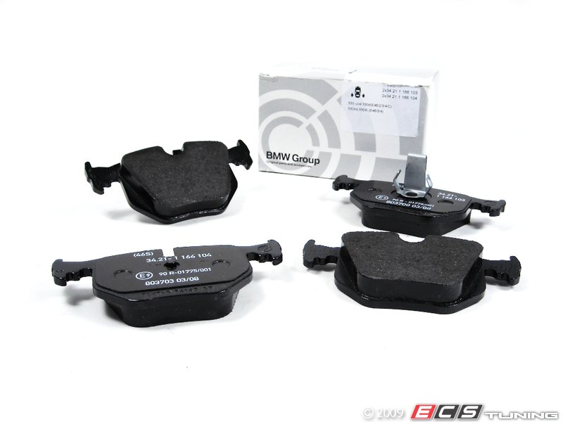 pad bmw es pads parts brake rear genuine b direct set from