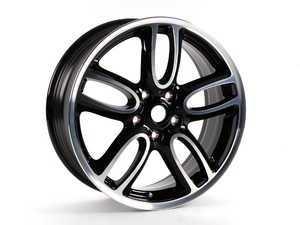 "ES#2101926 - 36116798503 - R129 MINI JCW Wheel 19"" (5x120) Black Gloss Turned - Priced Each - 19 x 7.5 ET:52 - Genuine MINI - MINI"