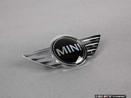 ES#78841 - 51140660106 - MINI Cooper S Hood Emblem - Replace that faded or damaged chrome with new - Genuine MINI - MINI