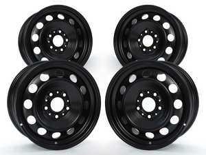 ES#2535449 - 36111095013KT - Black Steel Wheel - Set Of Four - 16x7 ET47 72.6mm CB - Genuine BMW - BMW