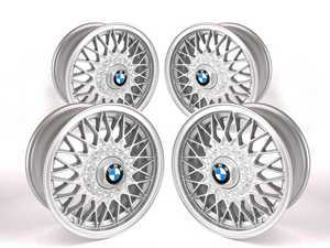 """ES#2535450 - 36111179066KT - 15"""" Style 5 Wheels - Set Of Four - 15x7 ET24 57.1mm CB, 4x100 bolt pattern - includes center caps. Commonly referred to as """"Euro Weaves"""". - Genuine BMW - BMW Volkswagen"""