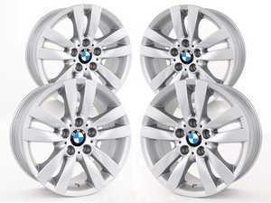 "ES#2535493 - 36116775600KT - 17"" Double Spoke Style 161 Wheels - Staggered Set Of Four - 17x8 ET34 FR / 17x8.5 ET37 RR 72.6mm CB - Genuine BMW - BMW"