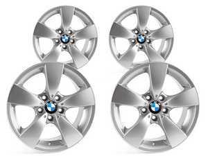 "ES#2535504 - 36116776776KT - 17"" Spider Spoke Style 138 Wheels - Square Set Of Four - 17x7.5 ET20 72.6mm CB - Genuine BMW - BMW"