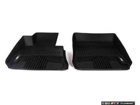 ES#2228637 - 82112220870 - Front All Weather Rubber Floor Mats - Black - Keeps any weather from harming your vehicles carpet - Genuine BMW - BMW
