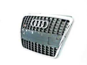 ES#261485 - 4E0853651AL1RR -  S8 Grille Assembly - Platinum Grey - Includes the chrome Audi rings - Genuine Volkswagen Audi - Audi