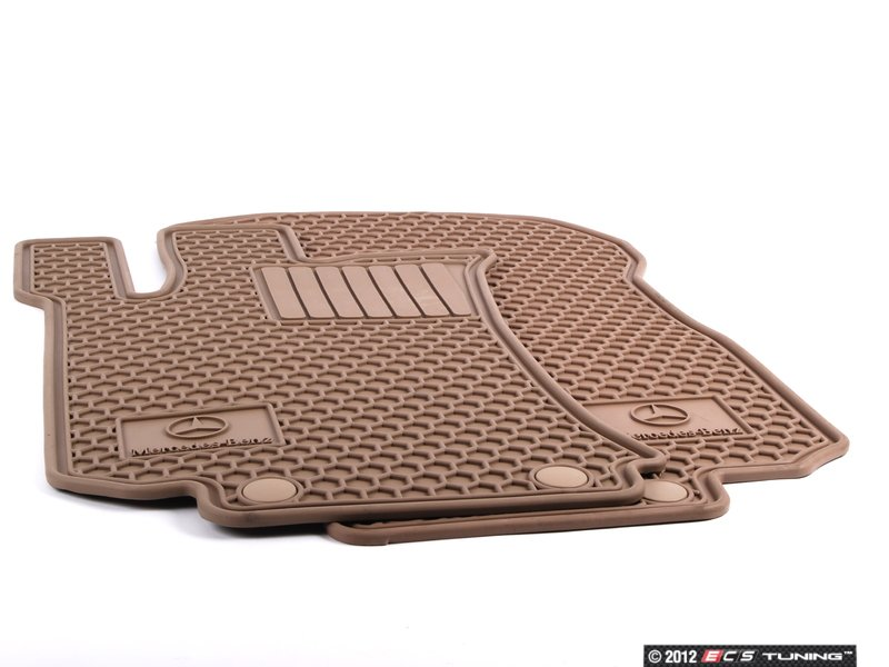 genuine mercedes benz q6680693 all weather rubber On mercedes benz rubber floor mats with logo