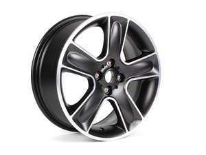 "ES#514941 - 36116784124 - R111 Black Star Bullet Wheel 17"" (4x100) Black Turned - Priced Each - 17 x 7J ET:48 - Genuine MINI - MINI"