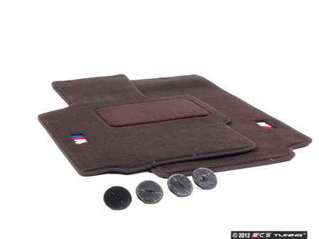 ES#195843 - 82111470372 - Carpeted Floor Mat Set - Black - Set of two with embroidered M logo - Genuine BMW - BMW