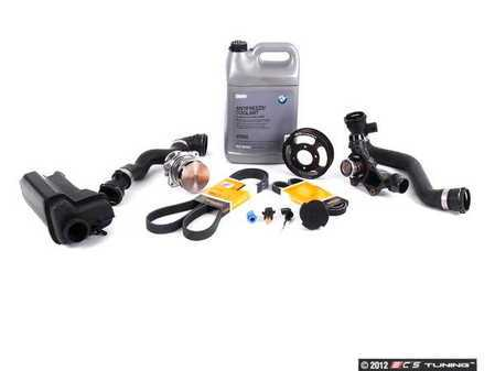 ES#2063875 - ECSE391155 - ECS Cooling Maintenance Kit - Level 2 - Stop your cooling problems before they start - includes an ECS Aluminum water pump pulley and featuring a GEBA water pump with a metal impeller - Assembled By ECS - BMW