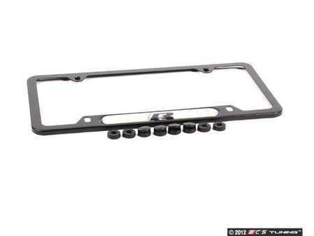 ES#2227786 - 5K0071801D - R-Line Plate Frame - Black - Black stainless frame featuring the R Line logo - Genuine Volkswagen Audi - Volkswagen