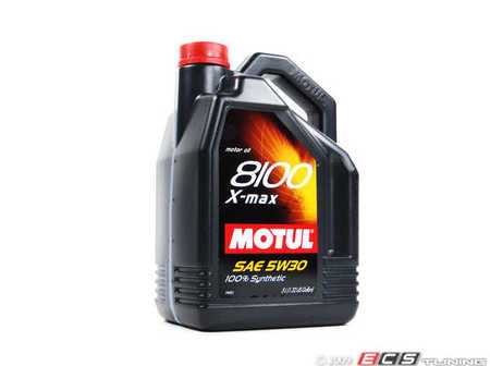 ES#261387 - 841451 - 8100 X-Max (5w-30) - 5 Liter (NO LONGER AVAILABLE) - Ester (Group V) based engine oil, offering the best wear protection possible.  Also ester based oils offer a higher level of engine cleaning. - Motul -