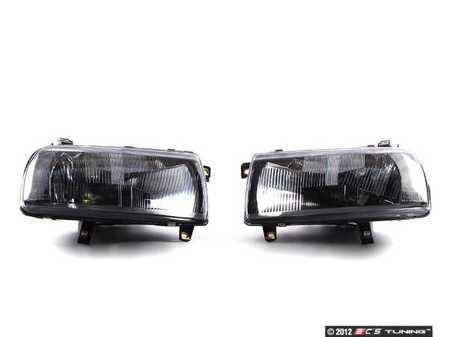 ES#10992 - HXVWJ3HL-EB-60 - Vento European Headlight Set - (NO LONGER AVAILABLE) - Improve you lighting performance on you MKIII Jetta with these euro-spec Vento headlights - Helix -