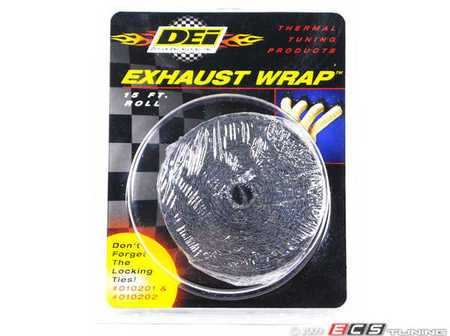 "ES#261430 - 010120 - Black Exhaust Wrap - 1"" X 15ft - Increase power by containing exhaust heat - DEI -"