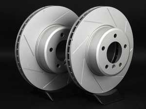 ES#2192996 - 6753221SLGMTLRA - Front Slotted Brake Rotors - Pair (324x30) - Featuring GEOMET protective coating offering superior rust protection for long lasting, great looking rotors. - ECS - BMW