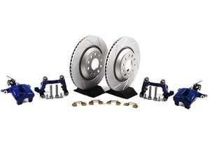ES#1832115 - MK5R32REAR -  Rear Big Brake Kit - Slotted rotors (310x22) - Upgrade your stopping power to the MK5 R32 setup! Includes ECS GEOMET rotors. - Assembled By ECS - Audi Volkswagen
