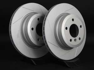 ES#2539492 - 6778649SLGMTLRA - Rear Slotted Brake Rotors - Pair (324x22) - WHILE SUPPLIES LAST! - Featuring GEOMET protective coating offering superior rust protection for long lasting, great looking rotors. - ECS - BMW