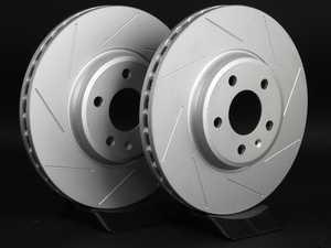 ES#2189929 - 8K0301ASLGMTLRA -  Front Slotted Brake Rotors - Pair (320x30) - Featuring GEOMET protective coating. - ECS - Audi