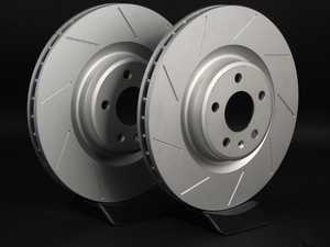 ES#2189933 - 8K0301MSLGMTLRA - Front Slotted Brake Rotors - Pair (345x30) - Featuring GEOMET protective coating - ECS - Audi