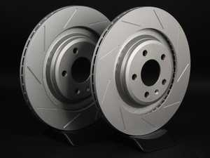 ES#2189938 - 8K0601CSLGMTLRA - Rear Slotted Brake Rotors - Pair (330x22) - Featuring GEOMET protective coating. - ECS - Audi