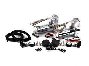 ES#2102456 - 23450 - Viair 450C Dual Pack Compressor - 150 PSI - Chrome - Two 12v compressors with a duty cycle of 100% & 150psi max pressure - Air Lift - Audi BMW Volkswagen