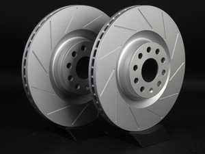 ES#2189810 - 1K0615301MKT5 -  Front Slotted Brake Rotors - Pair (345x30) - Featuring GEOMET protective coating. - ECS - Audi Volkswagen
