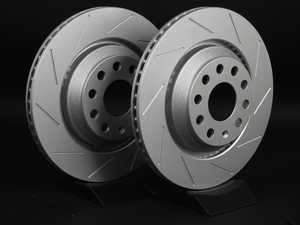ES#2200741 - 1K0615601NKT4 -  Rear Slotted Brake Rotors - Pair (310x22) - Featuring GEOMET protective coating. - ECS - Audi Volkswagen