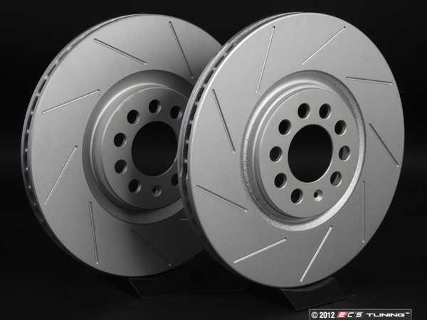 ES#2189955 - 8L0698301AKT6 -  Front Slotted Brake Rotors - Pair (312x25) - Featuring GEOMET  protective coating. - ECS - Audi Volkswagen