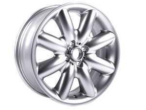 "ES#64962 - 36116773945 - R85 MINI S-Spoke Alloy Wheel 17"" (4x100) Silver - Priced Each - 17 x 7 ET:48 - Genuine MINI - MINI"