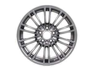 "ES#63909 - 36102283551 - 18"" M Double Spoke Style 219 Wheel - Priced Each - 18x9.5 ET23 72.6mm CB Gunmetal - Genuine BMW - BMW"
