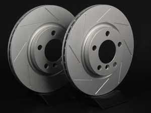 """ES#2539359 - 341829SLTGMTLRKT - Front Slotted Brake Rotors - Pair 12.08"""" (307x24) - Featuring GEOMET protective coating. - ECS - MINI"""