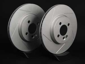 """ES#2538316 - 341986SLTGMTLRKT - Front Slotted Brake Rotors - Pair 11.57"""" (294x22) - Featuring GEOMET protective coating. - ECS - MINI"""