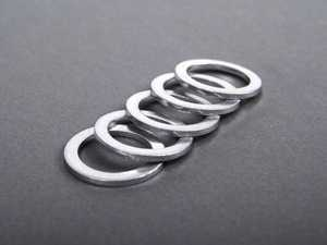ES#248400 - N138492alu5PACK - Aluminum Drain Plug Washer - Pack Of 5 - Replace with every oil service to prevent leaks. M14x20x1.5 - Elring - Audi Volkswagen