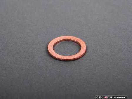 ES#2264 - N138492 - Copper Drain Plug Washer - Priced Each - Replace with every oil service to prevent leaks. M14x20x1.5 - Elring - Audi Volkswagen