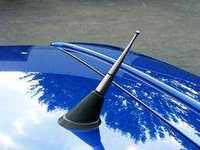 ES#3555 - 230-20590 - Antenna - Gun metal grey color cone with ball top - JOM - Audi Volkswagen