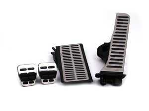 ES#251384 - 1K1064201 - Pedal Caps - Manual Transmission - Four piece aluminum pedal set to personalize your interior, includes matching dead pedal - Genuine Volkswagen Audi - Volkswagen