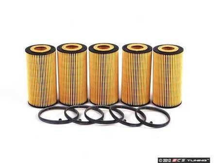 ES#252601 - 06D115562 - Oil Filter Kit - Pack Of 5 - Stock up for future maintenance! - Hengst - Audi Volkswagen