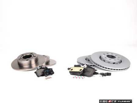 ES#2561521 - 8E0615301QKT1 - Front & Rear Brake Service Kit - Zimmerman Rotors & Mintex Red Box Pads - Everything you need to service your front & rear brakes in an afternoon  - Assembled By ECS -