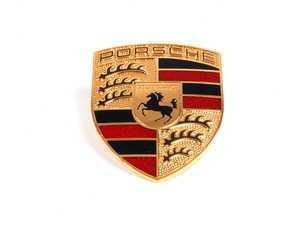ES#2712844 - 99655921101 - Hood Crest - Full Color - Early-style Porsche crest - Original Equipment Supplier - Porsche