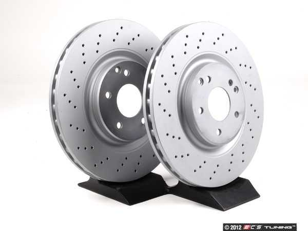 ES#2561804 - 2034211312 - Front Brake Rotors - Pair - Includes left and right front brake rotors - Zimmermann - Mercedes Benz