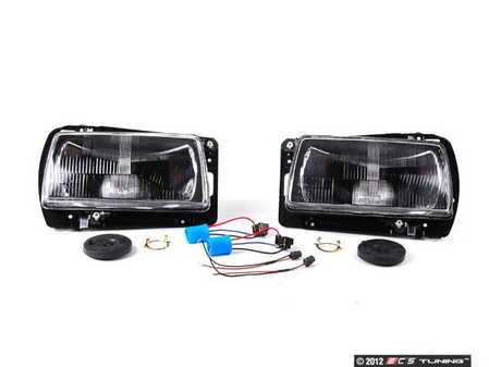 ES#1306583 - HXVWJ2HL-BK9 - Smoked European Aero Headlight Set - Includes necessary adapters to give your aero front end a stunning look - Helix - Volkswagen