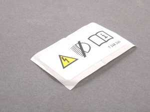 ES#1885118 - 71237248266 - Xenon Warning Sticker - Found just above the headlight on the core support - Genuine BMW - BMW MINI