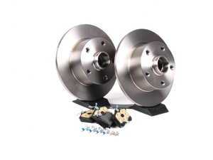 ES#2561714 - 8D0615601BKT - Rear Brake Service Kit - Featuring Zimmerman rotors and Mintex Red Box pads - Assembled By ECS - Audi