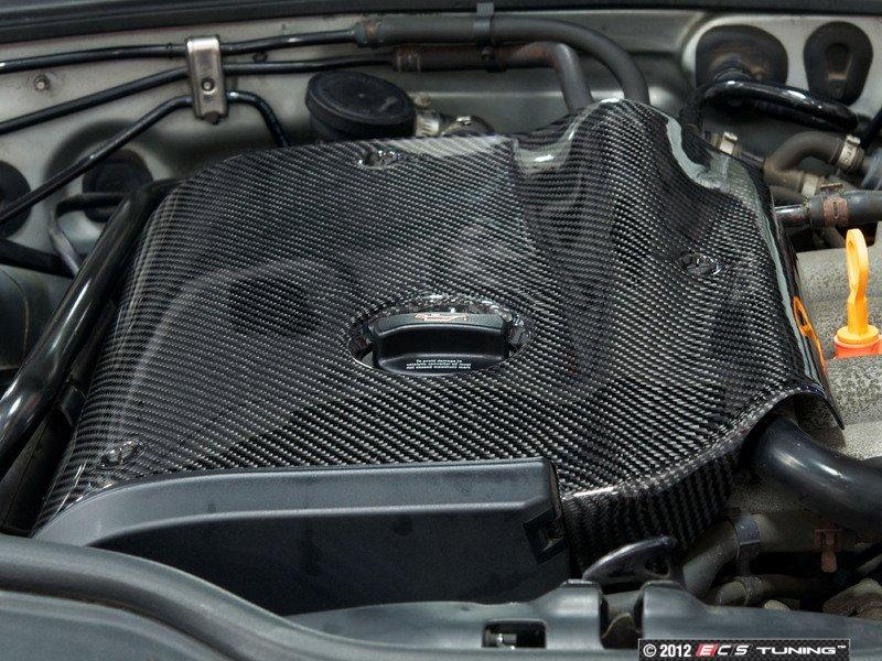 ecs news audi b6 a4 1 8t ecs carbon fiber engine cover. Black Bedroom Furniture Sets. Home Design Ideas