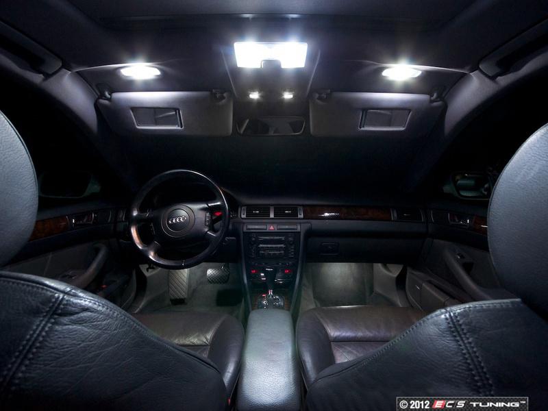 ecs news audi c5 a6 rs6 led interior lighting kits. Black Bedroom Furniture Sets. Home Design Ideas