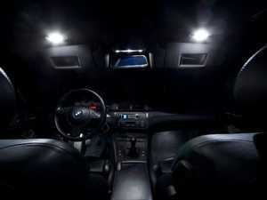 ES#2210255 - E46COUPELED - Master LED Interior Lighting Kit - Transform your complete interior in minutes with new LED interior bulbs from Ziza. For coupe and hardtop convertible models with stock tail lights only. - ZiZa - BMW